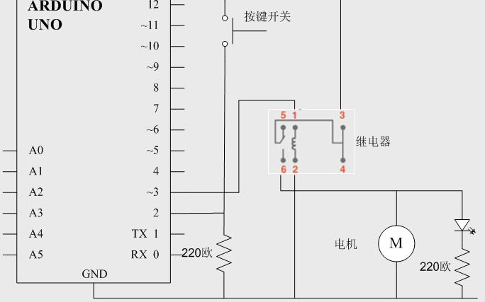 如何使用继电器和直流电机来自制风扇的详细资料概述