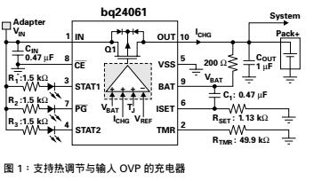 支持热调节输入过压保护功能的安全增强型线性锂离子电池充电器概述