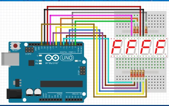 如何使用Arduino驱动四位数码管的详细资料概述