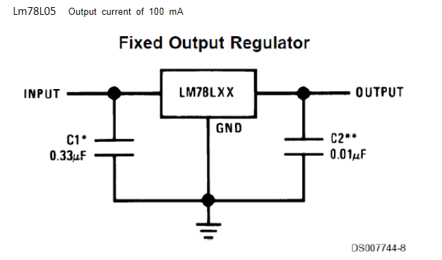 简单的78l05稳压电路图原理分析