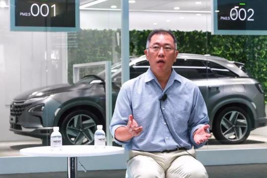 现代新的氢动力车发布:采用最新氢燃料电池,既环保又经济