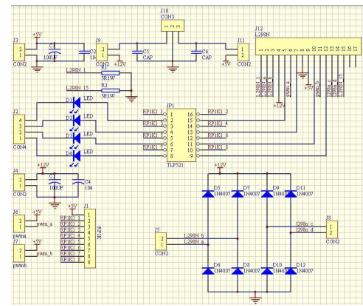 路驱动两路电机tlp521光耦电路图详细资料免费下载图片