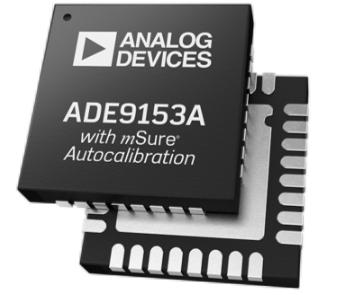 ADI推出行业首款可自动校准的单相电计量IC——ADE9153A