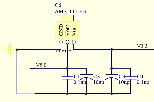 ams1117如何實現5V轉3V?