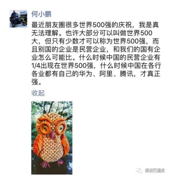 """市场争夺战残酷,何小鹏表示500强大部分还只是""""500大"""""""