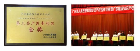 金升阳荣获广东省专利金奖,持续创新只为更好