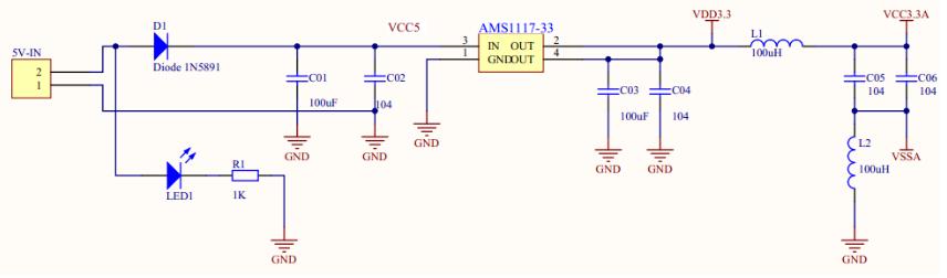 3.3v稳压电路电容作用 3.3v稳压电路典型电路图及分析