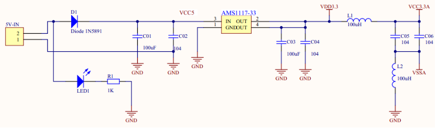 3.3v穩壓電路電容作用 3.3v穩壓電路典型電路圖及分析