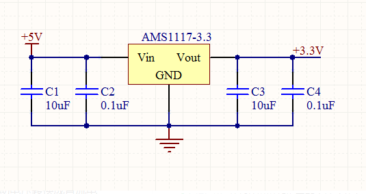 ams1117-3.3接線原理及如何接線