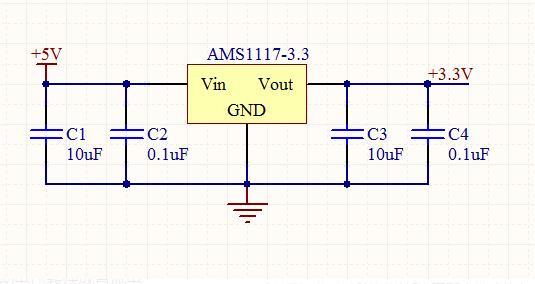 ams1117-3.3接线原理及如何接线