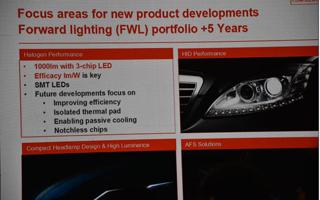 欧司朗日亚化学看好汽车照明市场 中国乘用车头灯用LED产值2022年有望达80.84亿