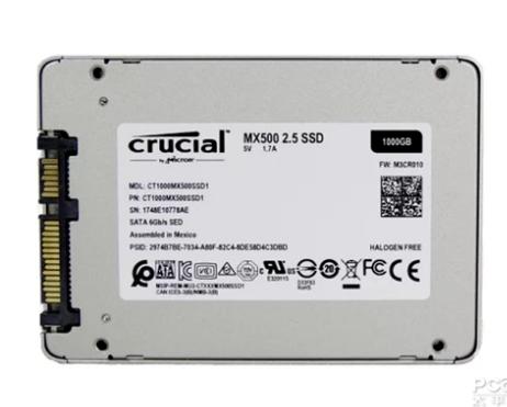 美光MX500系列SSD:64层3D TLC NAND闪存,性价比高