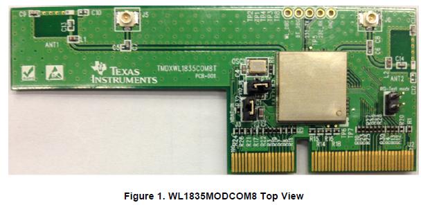 WL1835MODCOM8 WLAN MIMO和BT模組TI的SITARA平臺評估板詳細資料概述