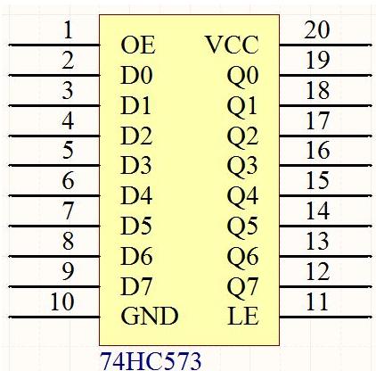74hc573怎么使用 74hc573可以仿真吗