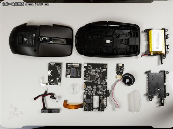 小米游戏鼠标拆解,竟有如此工整而复杂的布局