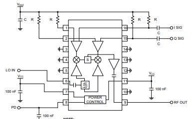 RF2422单片集成的正交调制器IC详细数据手册免费下载