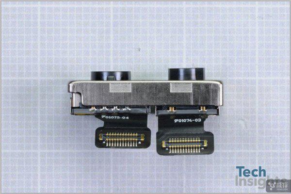 xel模式,并确认这是一个常规的背照式(BSI)传感器,也就是索尼的Exmor RS传感器。    TechInsights 还表示,苹果似乎第一次使用了混合键合技术,因为确认了长焦部分混合的是1.0m单个像素尺寸的Exmor RS传感器,这一传感器尺寸为6.29 mm x 5.21 mm (32.8平方米毫米)。   - 前置摄像头 700万像素的前置摄像头模块尺寸为6.