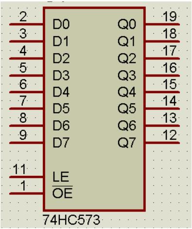 74hc573使用实例分析