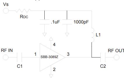 SBB3089Z高性能InGaP HBT MMIC放大器