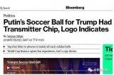 普京送给特朗普的世界杯足球内含窃听器?