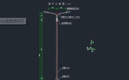 路灯平面布置CAD电气设计图详细资料免费下载