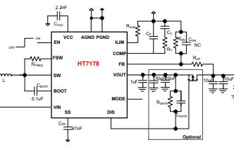 HT7178高功率集成同步升压转换器的详细中文数据手册免费下载