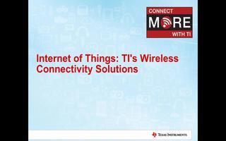 TI无线连接解决方案应用的介绍