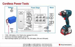电池供电的电机驱动应用及解决方案