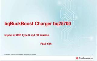 bq25700降压式充电器的特点及应用