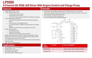 LP5569 LED驅動顯示