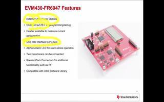 MSP430FR6047超声波感应评估模块