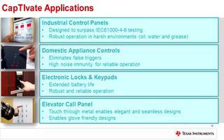 TI CapTIvate 触控技术以及两颗成本优化器件的介绍