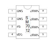 基于SM7012下的5W新型开关电源适配器