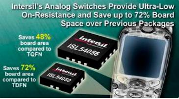 Intersil新推出两款模拟开关,更便携电流质...