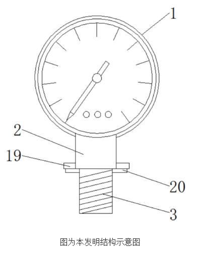 【新专利介绍】一种精密氮气压力表