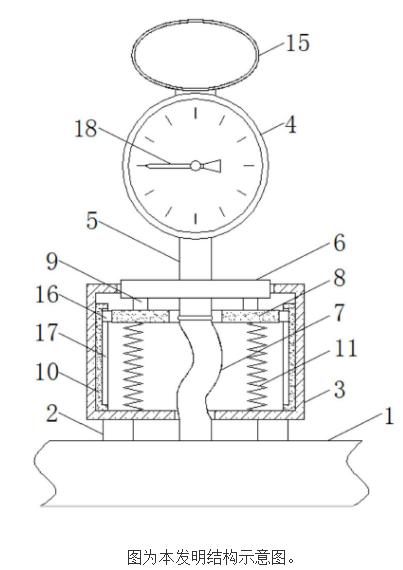 【新专利介绍】一种节流防震防冲击压力表