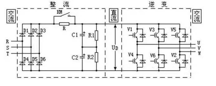 变频器主电路组成部分,变频器内部电路实物图