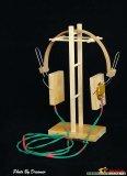 如何用竹子、木头自制一副矿石机耳机?