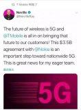 T-Mobile与诺基亚达成价值35亿美元的5G...
