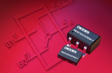Diodes推出单刀双掷模拟开关产品,设计用于数...