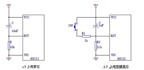 常见的复位电路 单片机复位电路的原理