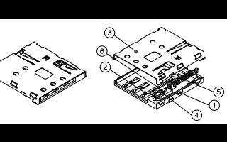 自弹式NANO SIM卡座SMN-303图纸的详细资料免费下载