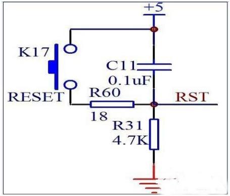 单片机按键复位电路原理和电路图解析