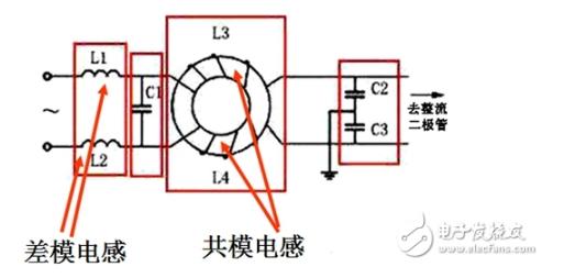 交流电源滤波器电路图及作用分析