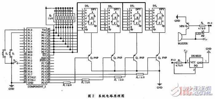以单片机为主控中心的高精度温度测量显示系统设计