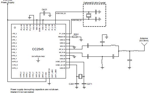 CC2545针对2.4GHz射频(RF)应用的片上系统详细资料免费下载