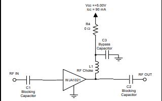 WJA1021有源偏置的InGaP HBT增益模块放大器详细资料免费下载