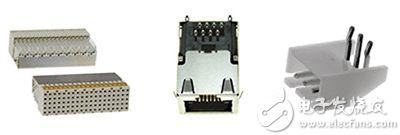 可端接到所安装电路板上预留孔的连接器示例图