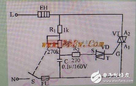 如何制作一个简易的电烙铁调压电路?