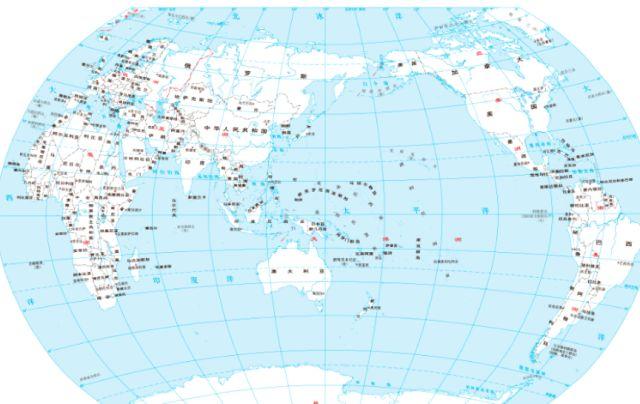 在投影之前的地球仪上,美国距离中国远,泰国距离中国近,投影成